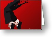 Michael Jackson Greeting Cards - 063. Forever Greeting Card by Tam Hazlewood