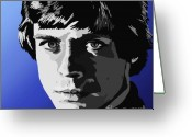 Luke Skywalker Greeting Cards - 071. I Used To Bullseye Womp Rats Greeting Card by Tam Hazlewood