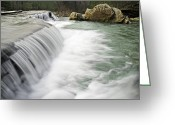 Ozarks Greeting Cards - 0804-0012 Six Finger Falls 1 Greeting Card by Randy Forrester