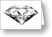 Perfection Greeting Cards -  Diamond Greeting Card by Setsiri Silapasuwanchai