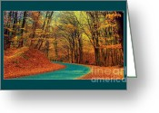 Screen Doors Greeting Cards -  Forest Greeting Card by Odon Czintos