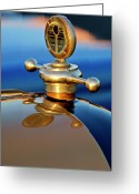 1922 Studebaker Touring Greeting Cards - 1922 Studebaker Touring Hood Ornament 3 Greeting Card by Jill Reger