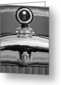 Car Mascot Greeting Cards - 1926 Cadillac Series 314 Custom Hood Ornament Greeting Card by Jill Reger