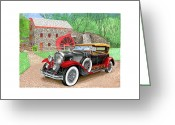 Cowl Greeting Cards - 1929 Cadillac Dual Cowl Phaeton Greeting Card by Jack Pumphrey