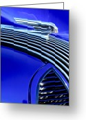 Twitter Greeting Cards - 1936 Pontiac Hood Ornament Greeting Card by Jill Reger