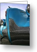 Blue Buick Greeting Cards - 1939 Buick Eight Greeting Card by Gordon Dean II