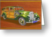 Suiza Greeting Cards - 1947 Bentley Shooting Brake Greeting Card by Jack Pumphrey