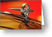 Car Mascot Greeting Cards - 1947 Buick Roadmaster Hood Ornament Greeting Card by Jill Reger