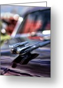 Cole Greeting Cards - 1949 Cadillac Hood Ornament Greeting Card by Gordon Dean II