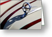 Car Mascot Greeting Cards - 1949 Custom Buick Hood Ornament Greeting Card by Jill Reger