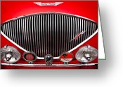 Car Ornaments Greeting Cards - 1955 Austin Healey 100-4 Greeting Card by David Patterson