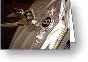  Collector Hood Ornaments Greeting Cards - 1956 Bentley S1 Greeting Card by David Patterson