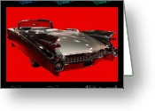 Transportation Digital Art Greeting Cards - 1959 Cadillac Eldorado Convertible . Wing Angle Artwork Greeting Card by Wingsdomain Art and Photography