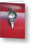 Car Mascot Greeting Cards - 1961 Rambler Hood Ornament Greeting Card by Jill Reger
