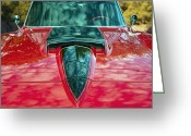 1964 Corvette Greeting Cards - 1964 Corvette Greeting Card by Kurt Golgart