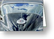 Cap Photo Greeting Cards - 1967 Chevrolet Corvette Rear Emblem Greeting Card by Jill Reger