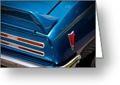 Firebird Greeting Cards - 1968 Pontiac Firebird Greeting Card by David Patterson