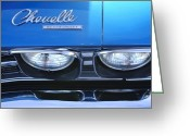 Chevrolet Chevelle Greeting Cards - 1969 Chevrolet Chevelle Emblem Greeting Card by Jill Reger