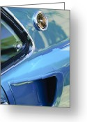 Ford Mustang Greeting Cards - 1969 Ford Mustang Mach 1 Emblem 2 Greeting Card by Jill Reger