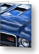 Blue Buick Greeting Cards - 1970 Buick GS 455  Greeting Card by Gordon Dean II