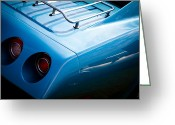 Mascots Greeting Cards - 1974 Chevy Corvette Greeting Card by David Patterson