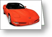 90s Greeting Cards - 1997 Chevrolet Corvette C5 Coupe Greeting Card by Oleksiy Maksymenko