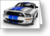 Silo Greeting Cards - 2008 Shelby Ford GT500KR Greeting Card by Oleksiy Maksymenko