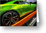 Auto Show Greeting Cards - 2012 Chevy Camaro Hot Wheels Concept Greeting Card by Gordon Dean II