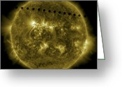 Corona Greeting Cards - 2012 Transit Of Venus Moving Greeting Card by Stocktrek Images