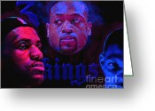 Lebron Greeting Cards - 3 Kings Greeting Card by John Travisano