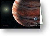 Extrasolar Planet Greeting Cards - 55 Cancri 2007 Greeting Card by Lynette Cook