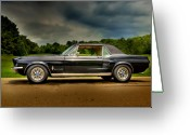 High Dynamic Range Greeting Cards - 67 Mustang Greeting Card by Thomas Young