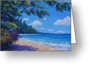 7 Mile Greeting Cards - 7-Mile Beach Greeting Card by John Clark