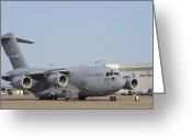 Freight Greeting Cards - A C-17 Globemaster Iii Parked Greeting Card by Stocktrek Images