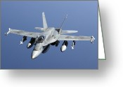 Smart Greeting Cards - A Cf-188a Hornet Of The Royal Canadian Greeting Card by Gert Kromhout