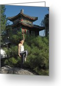 Tai Greeting Cards - A Chinese Woman In Her 20s To 30s Doing Greeting Card by Justin Guariglia