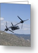 Osprey Photo Greeting Cards - A Cv-22 Osprey On A Training Mission Greeting Card by HIGH-G Productions