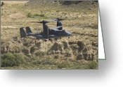 Osprey Photo Greeting Cards - A Cv-22 Osprey Prepares To Land Greeting Card by HIGH-G Productions