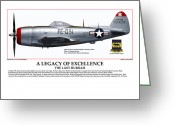 American Airmen Greeting Cards - A Legacy Of Excellence Greeting Card by Jerry Taliaferro