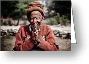 Steven Gray Greeting Cards - A Man of the Land Greeting Card by Steven Gray