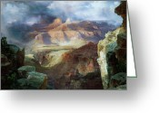 Masterpiece Painting Greeting Cards - A Miracle of Nature Greeting Card by Thomas Moran