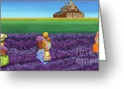 Barn Mixed Media Greeting Cards - A Moment Greeting Card by Anne Klar