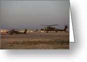 Agm-114 Greeting Cards - A Pair Ah-64d Apache Longbow Block Iii Greeting Card by Terry Moore