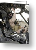 Control Greeting Cards - A Pilot Conducts Preflight Checks Greeting Card by Stocktrek Images