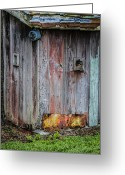Vintage Outhouse Greeting Cards - A Quiet Place Greeting Card by Carolyn Marshall