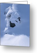 Beginnings Greeting Cards - A Skier In The Selkirk Range, British Greeting Card by Jimmy Chin
