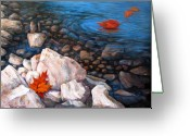 Lake Greeting Cards - A Touch of Fall Greeting Card by Tanja Ware