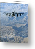 Smart Greeting Cards - A U.s. Air Force F-16c Fighting Falcon Greeting Card by Stocktrek Images