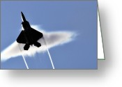 Raptor Photography Greeting Cards - A U.s. Air Force F-22 Raptor Aircraft Greeting Card by Stocktrek Images