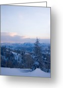 Daniel Greeting Cards - A View Out Over The Mountains Of Utah Greeting Card by Taylor S. Kennedy